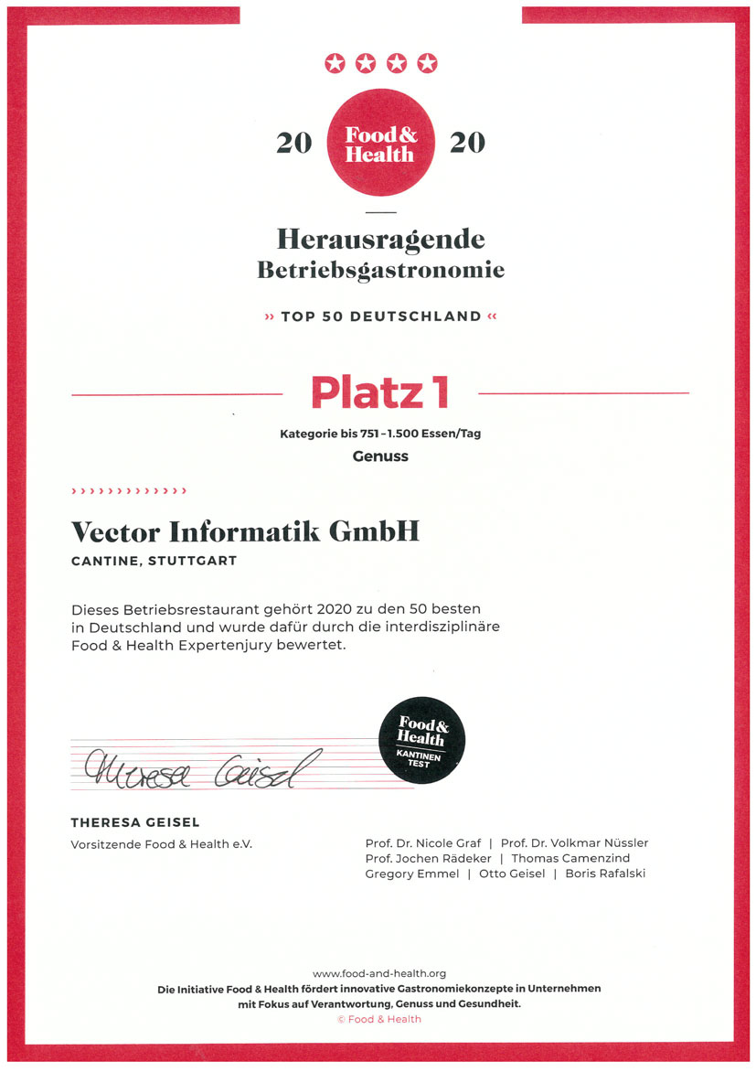 Zertifikat Auszeichnung CANtine - Made by Traube Tonbach