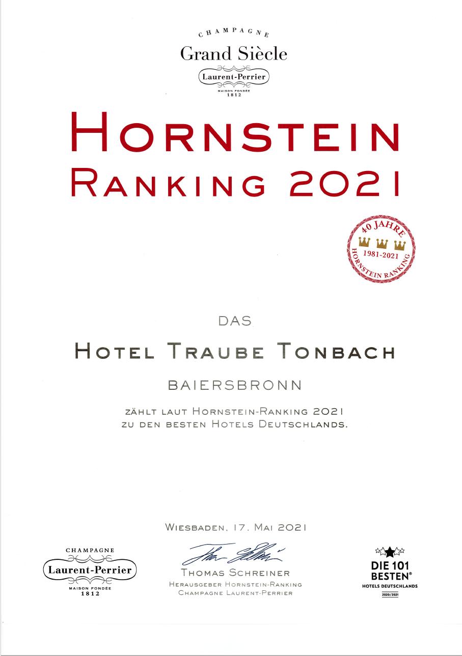 Zertifikat Auszeichnung Hotel Traube Tonbach