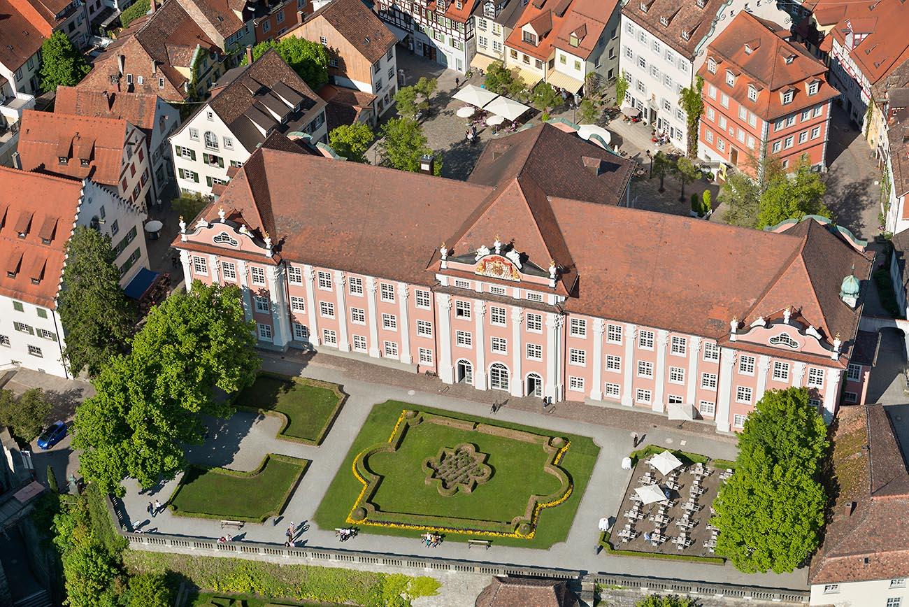 Luftansicht Neues Schloss Meersburg
