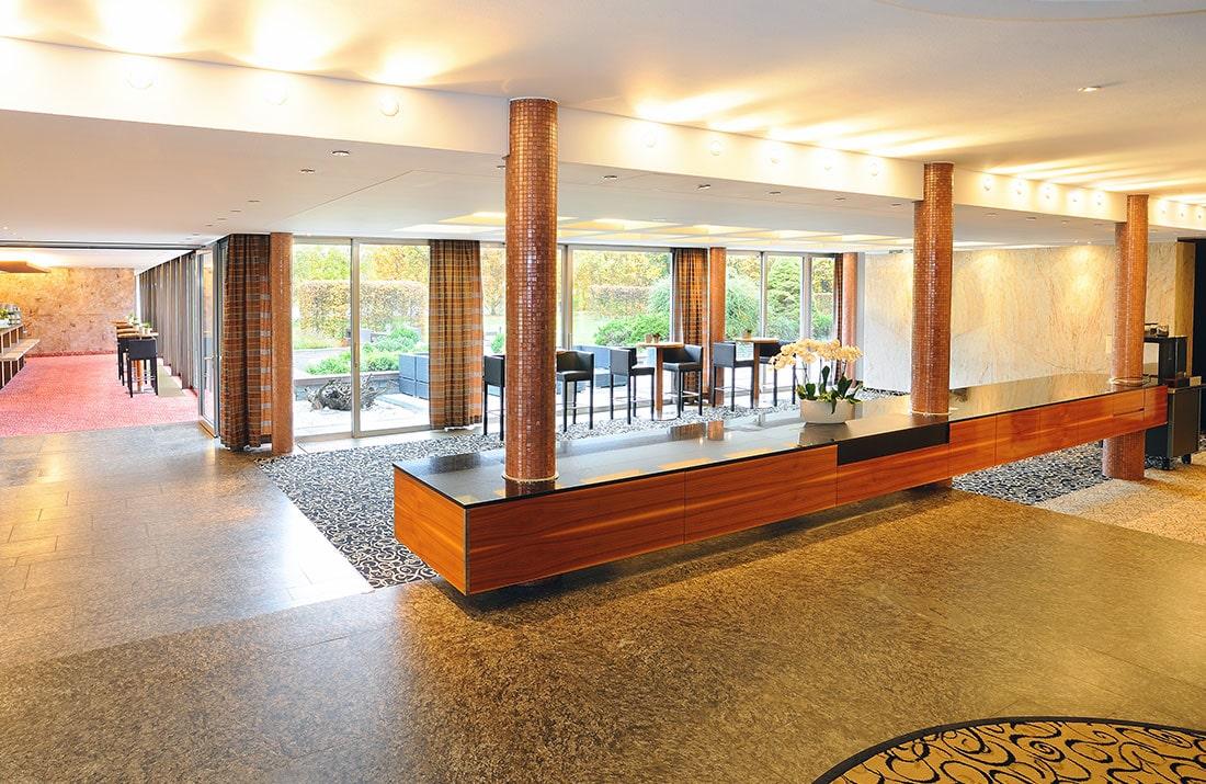 Lobby des Schlosshotel Monrepos
