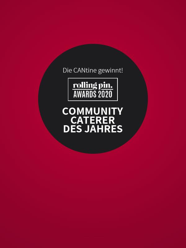 Roter Hintergrund mit Logo Rolling Pin Award