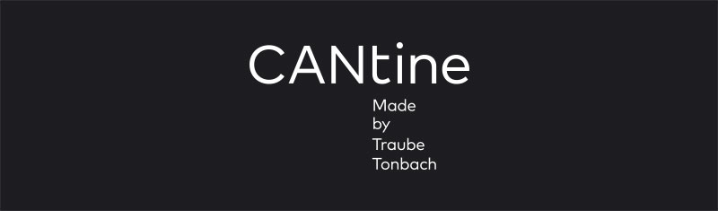 Logo der CANtine vor schwarzem Hintergrund