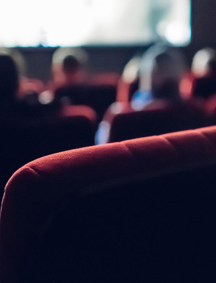 Bild eines Kinos von innen