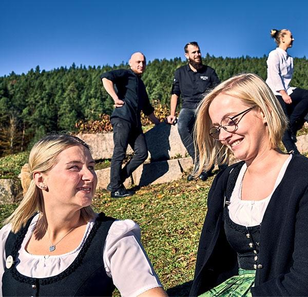 Mittagspause in der Traube Tonbach